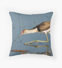 Jacana Throw Pillow