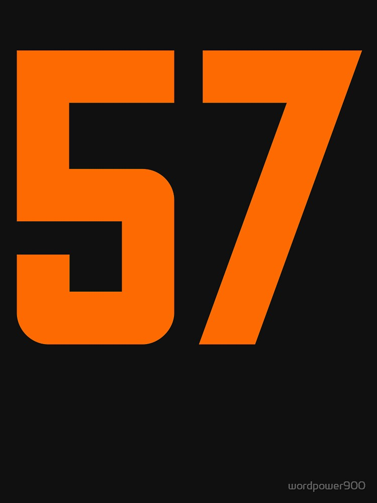 Orange Number 57 by wordpower900