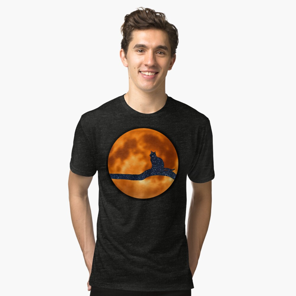 Lost in Cat Space Tri-blend T-Shirt Front
