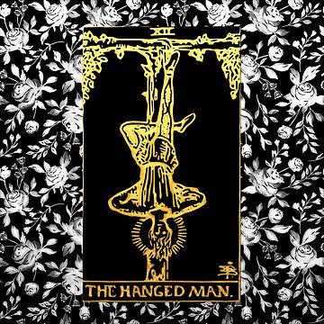 Floral Tarot Print - The Hanged Man by annaleebeer