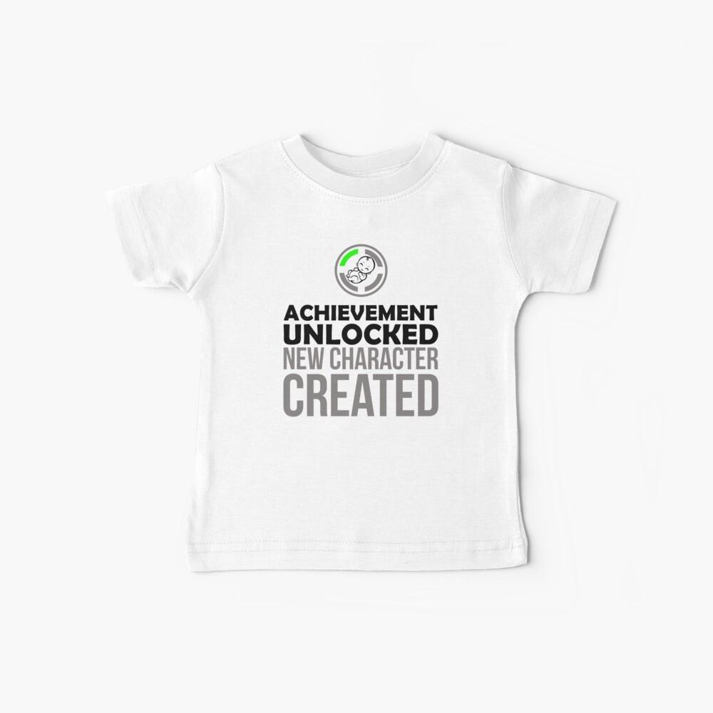 Achievement Unlocked: Neuer Charakter erstellt! Baby T-Shirt