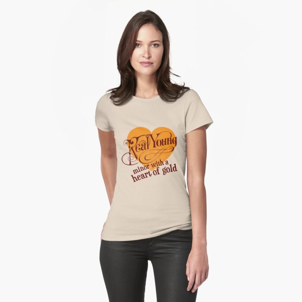 Real Young Minor mit einem Herz aus Gold von lilterra.com Tailliertes T-Shirt