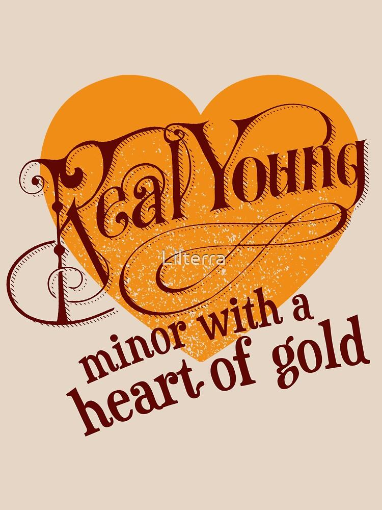 Real Young Minor mit einem Herz aus Gold von lilterra.com von Lilterra