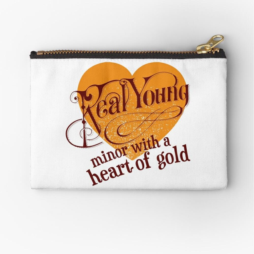 Real Young Minor mit einem Herz aus Gold von lilterra.com Täschchen