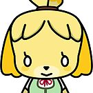 "Animal Crossing ""Isabelle"" Sticker by KaidanRosewood"