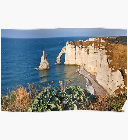 Cliffs of Étretat Poster