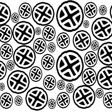 CROSSES EVERYWHERE - A GEOMETRIC PATTERN WITH VARIOUS SIZE CROSSES PATTERN by ozcushionstoo