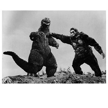 King Kong vs classic cult film vintage shirt by SOpunk