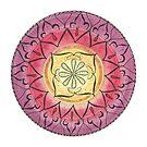 "Mandala ""Oriental Glitter"" handgemalt by Sylvia Polis von Sylvia Polis"