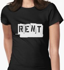 Rent (White) Women's Fitted T-Shirt