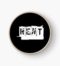 Rent (White) Clock