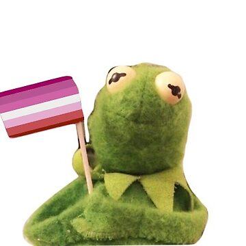 Lesbian Kermit by AngelaFV