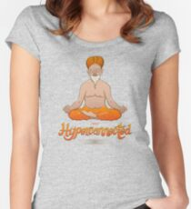 Truly hyperconnected Indian guru in meditation Women's Fitted Scoop T-Shirt