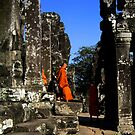 Monks at the temple by mklau