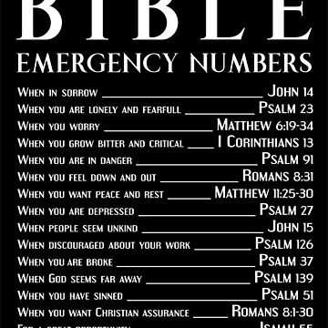 Bible Emergency Numbers by ShamanShore