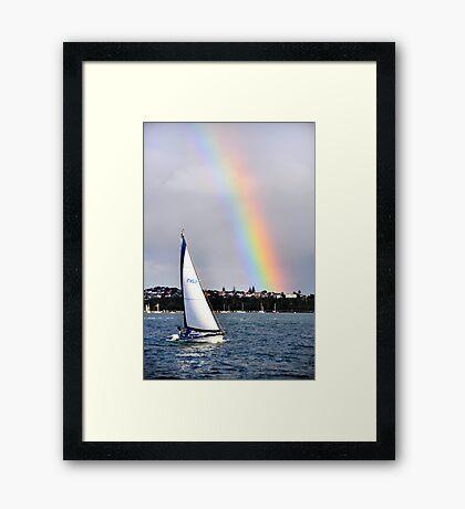 Sailing over the Rainbow Framed Print