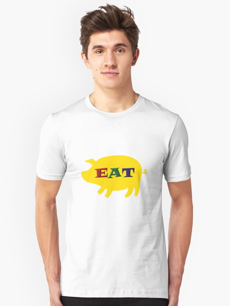 Eat Pork tee-shirt and stickers Unisex T-Shirt Front
