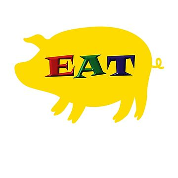 Eat Pork tee-shirt and stickers by nhk999