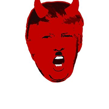 Dump anti Donald Trump Satan Devil political gift t shirt by Johannesart
