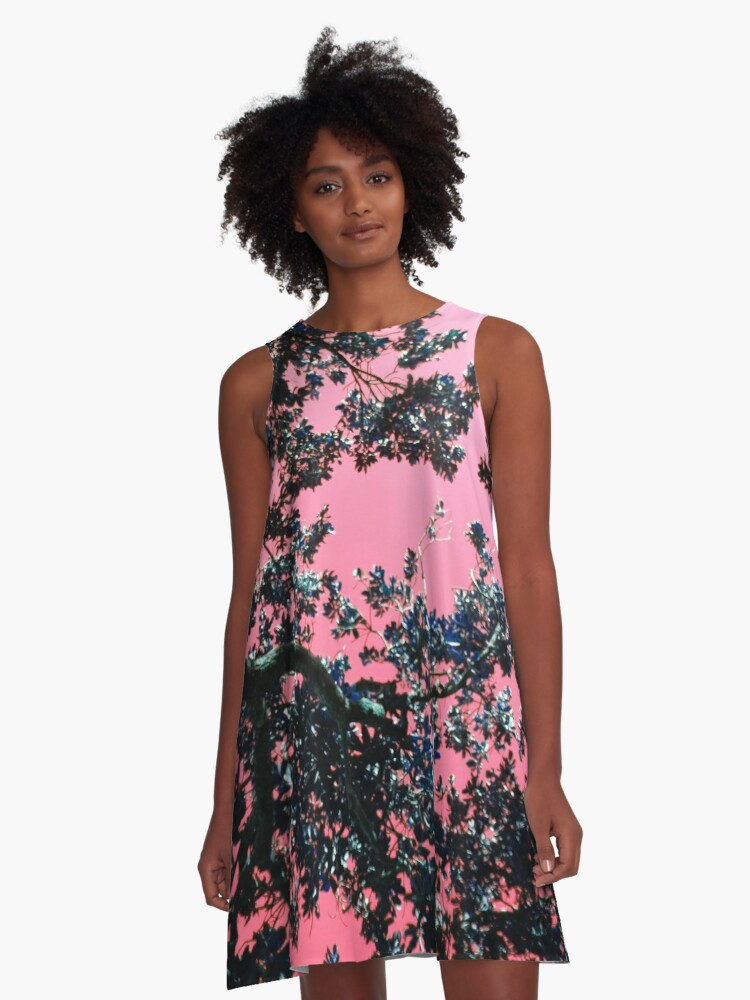 Madagascan Sky in Pink A-Line Dress Front
