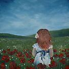 Girl in Poppy Field by Cherie Roe Dirksen