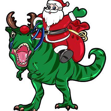 Dinosaur Santa Claus by Moonpie90