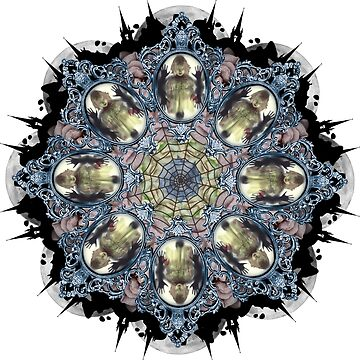 blue ghost in the mirror mandala by burenkaUA