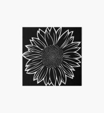 Sunflower in White Art Board