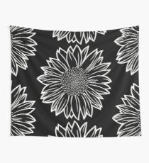 Sunflower in White Wall Tapestry