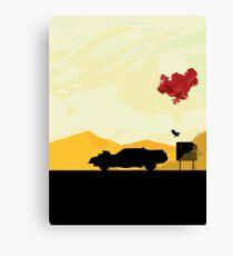 Fury Road - silhouette Canvas Print