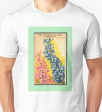 Vintage French Seed Packet Unisex T-Shirt