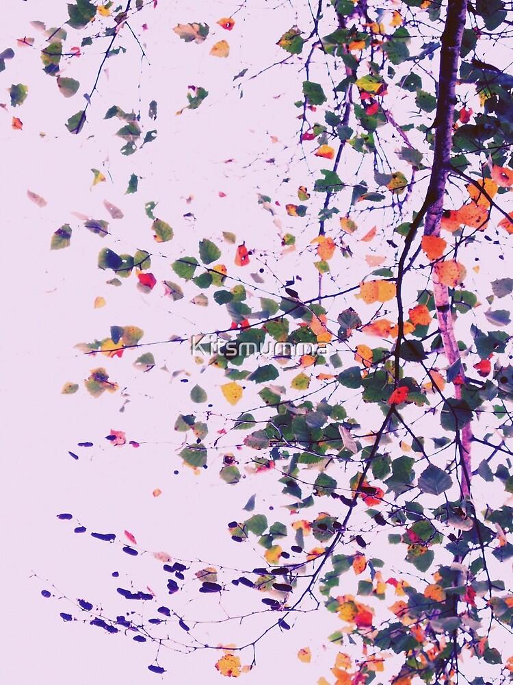 Nature Pattern # 8 - Birch (Pink) by Kitsmumma