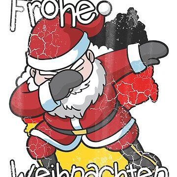 German Christmas Frohe Weihnachten Dabbing Santa by frittata