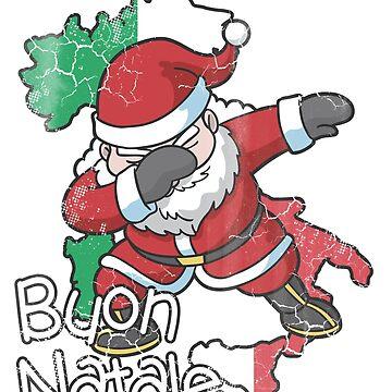 Italian Dabbing Santa Christmas Buon Natale by frittata