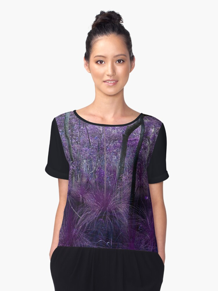 Conway National Park in Purple Women's Chiffon Top Front