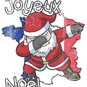 Joyeux Noel France Christmas Dabbing Santa by frittata