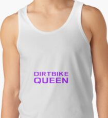 Dirtbike Queen Funny Motocross Design For Women For Girls Tank Top