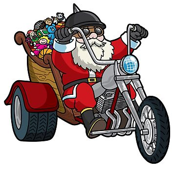 Santa Motorcycle Ugly Christmas Sweater by frittata