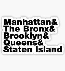 Five Boroughs ~ New York City Sticker