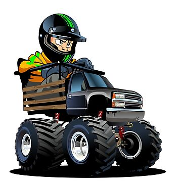 Cartoon Toy Monster Truck with driver by Mechanick