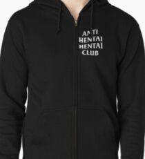 ANTI HENTAI HENTAI CLUB Zipped Hoodie