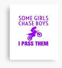 Funny Dirt Bike Motocross Dirtbike For Women Girls Canvas Print