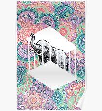 Käfig-Elefant-Plakat Poster
