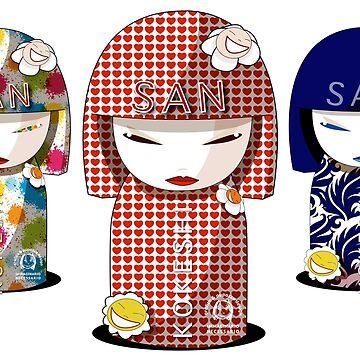 Kokeshi PAW Pop Art World by pupazzodesign