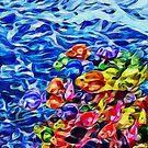 Colorful School of Fish by LemonsAndHoney