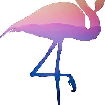 Sky and Mountain Flamingo by StephanHuard