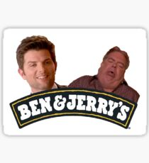 ben and jerry's parks and rec Sticker
