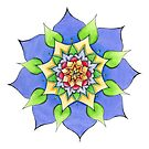 Mandala handgemalt by Sylvia Polis von Sylvia Polis