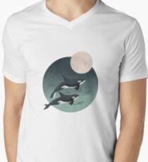 moonlight caravan // orcas V-Neck T-Shirt