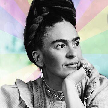 Frida Kahlo rainbow by edleon